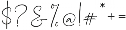 Dhanikans Signature otf (400) Font OTHER CHARS