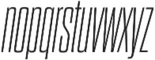 Dharma Gothic C ExLight Italic otf (300) Font LOWERCASE