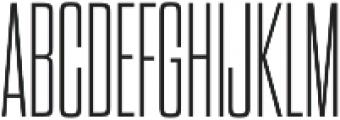 Dharma Gothic C ExLight otf (300) Font UPPERCASE