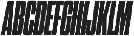 Dharma Gothic C Heavy Italic otf (800) Font UPPERCASE