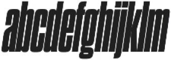 Dharma Gothic C Heavy Italic otf (800) Font LOWERCASE