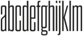 Dharma Gothic C Light otf (300) Font LOWERCASE