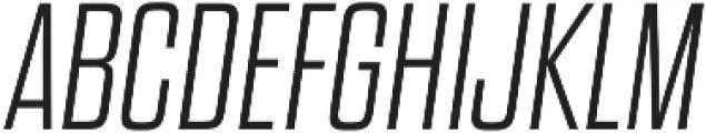 Dharma Gothic E ExLight Italic otf (300) Font UPPERCASE