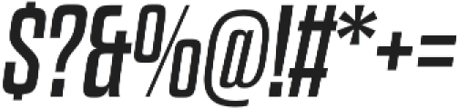 Dharma Gothic E Regular Italic otf (400) Font OTHER CHARS