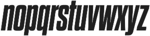 Dharma Gothic M ExBold Italic otf (700) Font LOWERCASE