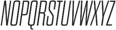 Dharma Gothic M ExLight Italic otf (300) Font UPPERCASE