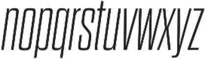 Dharma Gothic M ExLight Italic otf (300) Font LOWERCASE