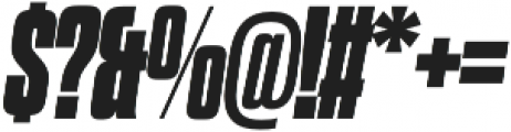 Dharma Gothic M Heavy Italic otf (800) Font OTHER CHARS