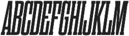 Dharma Slab C Bold Italic otf (700) Font UPPERCASE