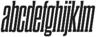 Dharma Slab C Bold Italic otf (700) Font LOWERCASE