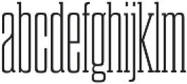 Dharma Slab C ExLight otf (300) Font LOWERCASE
