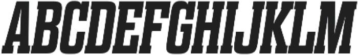 Dharma Slab E Bold Italic otf (700) Font UPPERCASE