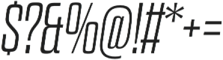 Dharma Slab E ExLight Italic otf (300) Font OTHER CHARS