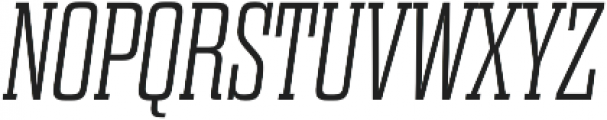 Dharma Slab E ExLight Italic otf (300) Font UPPERCASE