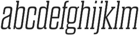 Dharma Slab E ExLight Italic otf (300) Font LOWERCASE