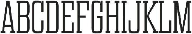 Dharma Slab E ExLight otf (300) Font UPPERCASE