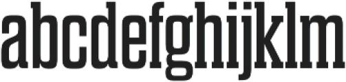 Dharma Slab E Regular otf (400) Font LOWERCASE