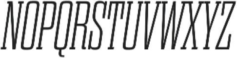 Dharma Slab M ExLight Italic otf (300) Font UPPERCASE