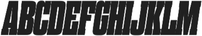 Dharma Slab M Heavy Italic otf (800) Font UPPERCASE
