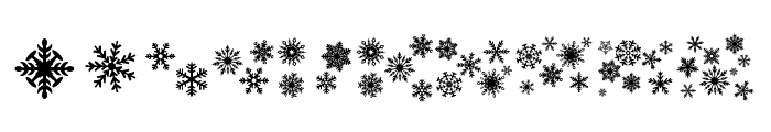 DH Snowflakes Font OTHER CHARS
