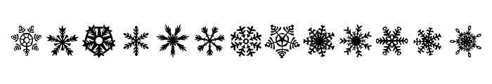 DH Snowflakes Font UPPERCASE