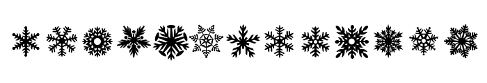DH Snowflakes Font LOWERCASE