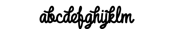 DHF Broffont Script Demo Font LOWERCASE