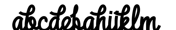 DHF Broffont Script Font LOWERCASE