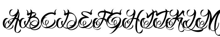 DHF Milestone Script Demo Font UPPERCASE