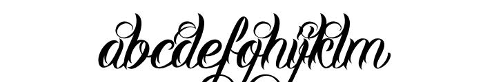 DHF Milestone Script Demo Font LOWERCASE