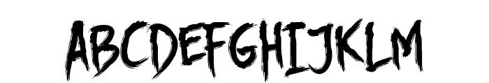 DHF Story Brush Font UPPERCASE