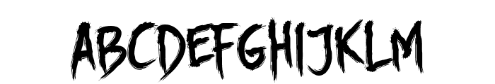 DHF Story Brush Font LOWERCASE