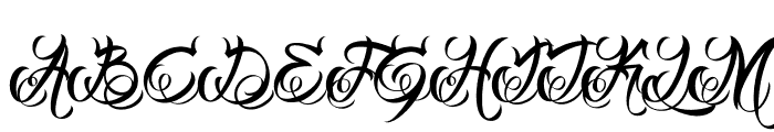 DHFMilestoneScriptDemo Font UPPERCASE
