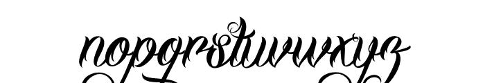 DHFMilestoneScriptDemo Font LOWERCASE