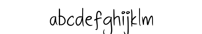 DHFQuinta'sDiary Font LOWERCASE