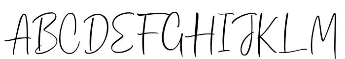 Dhanikans Signature Regular Font UPPERCASE