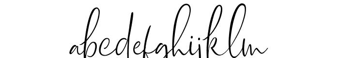 Dhanikans Signature Regular Font LOWERCASE