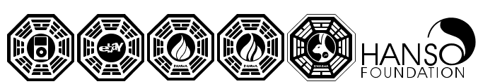 Dharma Initiative Logos Font UPPERCASE