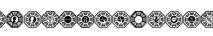 Dharma Initiative Logos Font LOWERCASE
