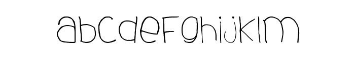 dhe child font Font LOWERCASE