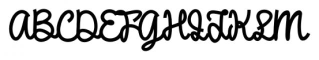 DHF Broffont Script Regular Font UPPERCASE