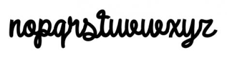 DHF Broffont Script Regular Font LOWERCASE
