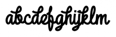 DHF Broffont Script Swash Regular Font LOWERCASE