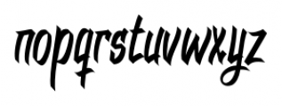 DHF Dexgraffiti Return Regular Font LOWERCASE