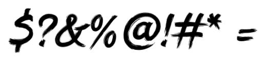 DHF Dexsar Brush Regular Font OTHER CHARS