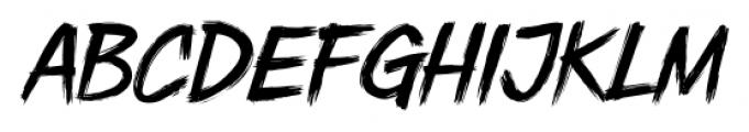 DHF Dexsar Brush Regular Font LOWERCASE