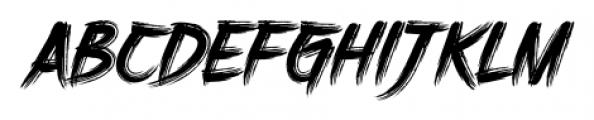 DHF Harrys Brush Regular Font UPPERCASE