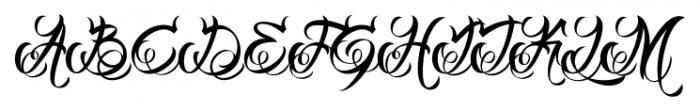 DHF Milestone Script Regular Font UPPERCASE