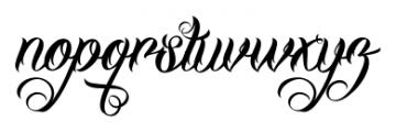 DHF Milestone Script Regular Font LOWERCASE