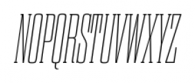 Dharma Slab C Thin Italic Font UPPERCASE